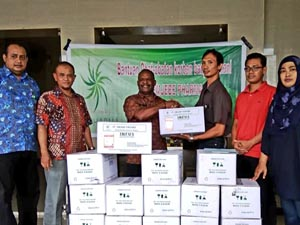 MJB's participation in the Jayapura flood disaster relief program