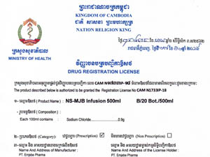 MJB Pharma's Export License to Cambodia